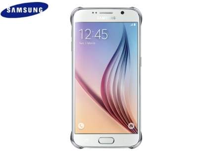 Genuine Samsung Galaxy S6 I9800 Protective Cover - Clear/Silver