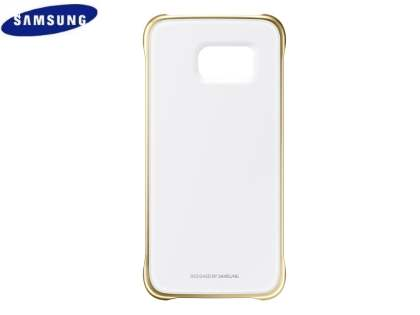 Genuine Samsung Galaxy S6 I9800 Protective Cover - Clear/Gold
