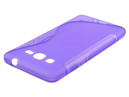 Samsung Galaxy Grand Prime Wave Case - Frosted Purple/Purple Soft Cover