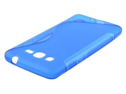 Samsung Galaxy Grand Prime Wave Case - Frosted Blue/Blue Soft Cover