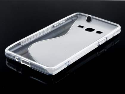 Samsung Galaxy Grand Prime Wave Case - Frosted Clear/Clear