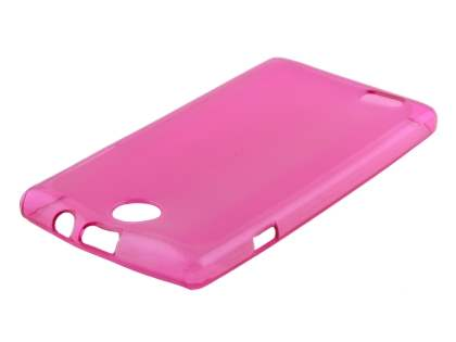 ZTE T815 Telstra Tempo Frosted Colour TPU Gel Case - Frosted Pink