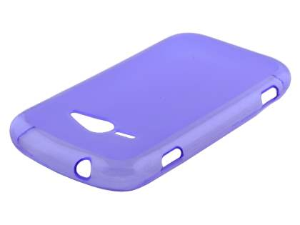 Frosted Colour TPU Gel Case for ZTE T80 Telstra Evolution - Frosted Purple Soft Cover