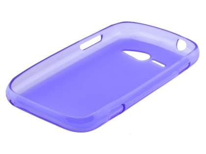 ZTE T80 Telstra Evolution Frosted Colour TPU Gel Case - Frosted Purple