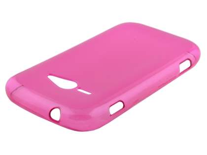 Frosted Colour TPU Gel Case for ZTE T80 Telstra Evolution - Frosted Pink Soft Cover