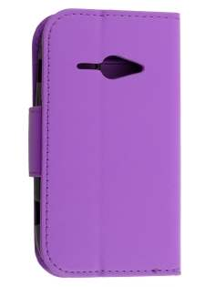 Synthetic Leather Wallet Case for ZTE T80 Telstra Evolution - Purple Leather Wallet Case