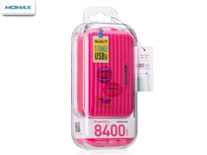 Momax iPower Go mini External Battery 8400mAh - Hot Pink