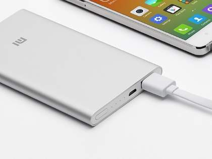 Xiaomi 5000 mAh Ultra Slim External Battery Recharger - Light Grey