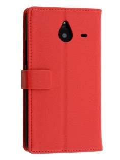 Synthetic Leather Wallet Case for Microsoft Lumia 640 XL - Red Leather Wallet Case