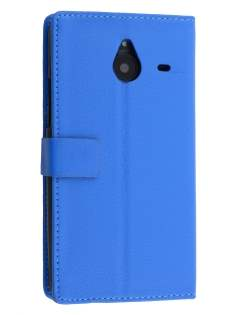 Synthetic Leather Wallet Case for Microsoft Lumia 640 XL - Blue Leather Wallet Case