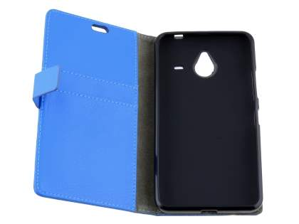Microsoft Lumia 640 XL Synthetic Leather Wallet Case - Blue