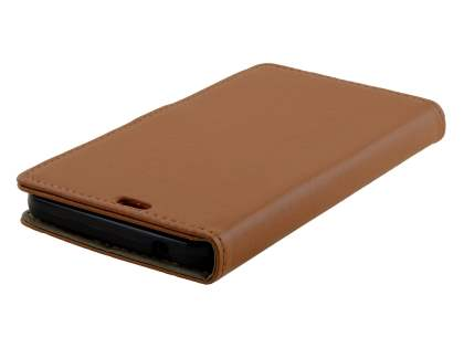 Microsoft Lumia 640 XL Synthetic Leather Wallet Case - Brown