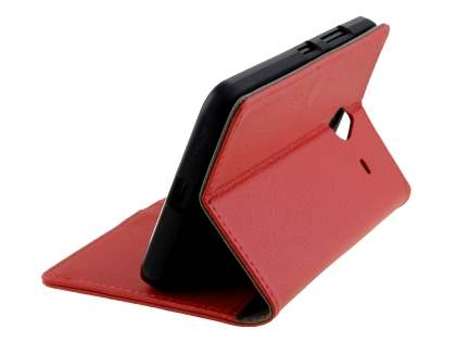 Microsoft Lumia 640 XL Synthetic Leather Wallet Case - Red