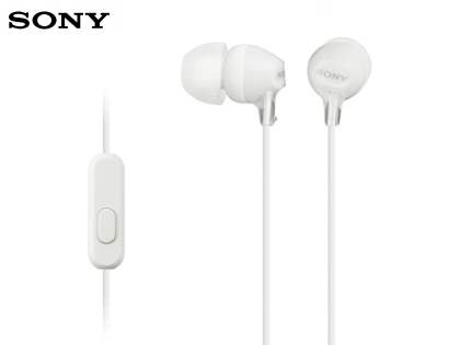 Genuine Sony MDR-EX15AP 3.5mm Stereo Headset - Pearl White Hands-free Kits