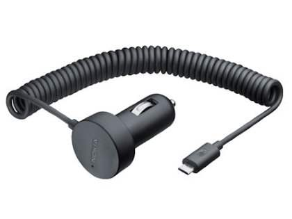 Genuine Nokia DC-17 Micro USB Car Charger - Black Car Charger for Nokia