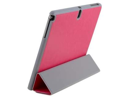 Premium Slim Synthetic Leather Flip Case with Stand for Samsung Galaxy Note 10.1 (2014 Edition) - Hot Pink Leather Flip Case