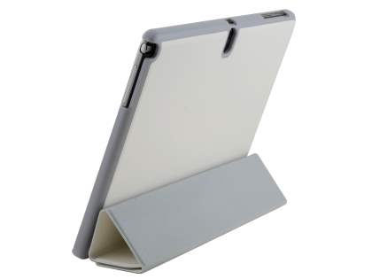 Premium Slim Synthetic Leather Flip Case with Stand for Samsung Galaxy Note 10.1 (2014 Edition) - Pearl White