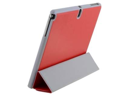 Premium Slim Synthetic Leather Flip Case with Stand for Samsung Galaxy Note 10.1 (2014 Edition) - Red Leather Flip Case