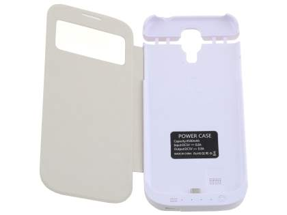4500mAh Power Case Battery for Samsung Galaxy S4 - Pearl White