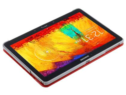 Premium Slim Synthetic Leather Flip Case with Stand for Samsung Galaxy Note 10.1 (2014 Edition) - Red