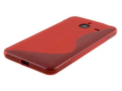 Microsoft Lumia 640 XL Wave Case - Frosted Red/Red