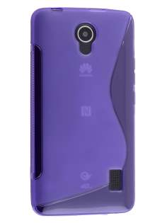Wave Case for Huawei Y635 - Frosted Purple/Purple