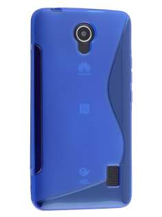 Huawei Y635 Wave Case - Frosted Blue/Blue Soft Cover