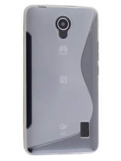 Huawei Y635 Wave Case - Frosted Clear/Clear Soft Cover