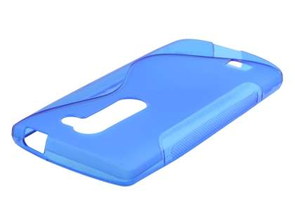 Wave Case for LG Leon - Frosted Blue/Blue Soft Cover