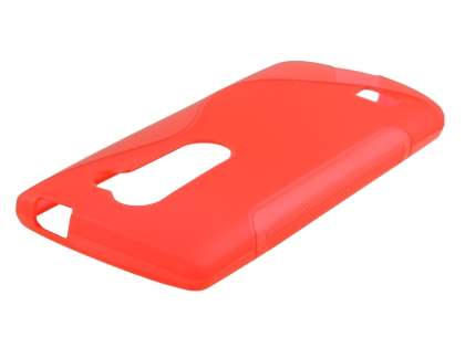 Wave Case for LG Leon - Frosted Red/Red Soft Cover