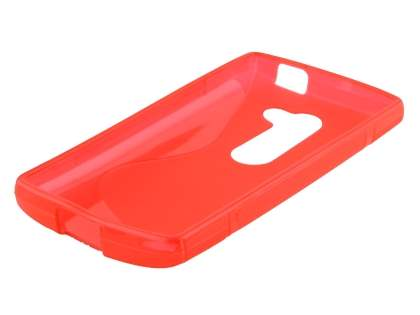 LG Leon Wave Case - Frosted Red/Red