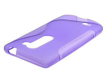 Wave Case for LG Leon - Frosted Purple/Purple Soft Cover