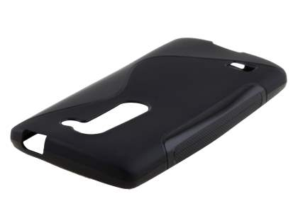 Wave Case for LG Leon - Frosted Black/Black Soft Cover