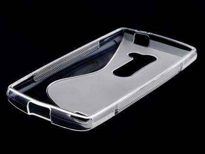 Wave Case for LG Leon - Frosted Clear/Clear