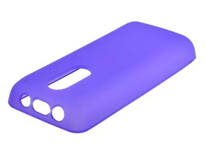 Nokia 108 TPU Gel Case - Frosted Purple Soft Cover
