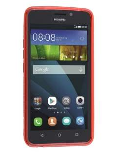 Huawei Y635 Wave Case - Frosted Red/Red