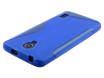 Huawei Y635 Wave Case - Frosted Blue/Blue