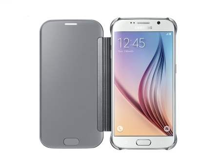 Genuine Samsung Galaxy S6 Clear View Cover - Silver