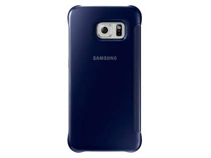 Genuine Samsung Galaxy S6 Edge Clear View Cover - Gun Black