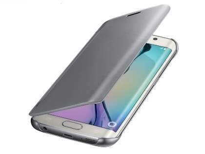 Genuine Samsung Galaxy S6 Edge Clear View Cover - Silver