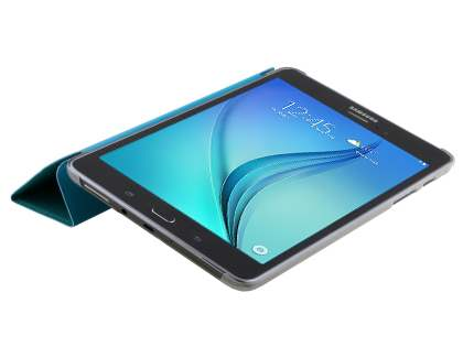 Samsung Galaxy Tab A 8.0 Book-Style Case with Stand - Teal/Frosted Clear