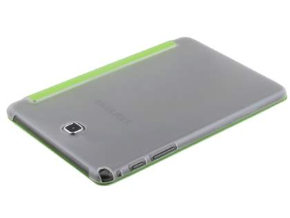Samsung Galaxy Tab A 8.0 Book-Style Case with Stand - Green/Frosted Clear