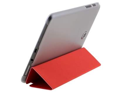 Samsung Galaxy Tab A 8.0 Book-Style Case with Stand - Red/Frosted Clear