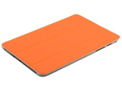 Samsung Galaxy Tab A 8.0 Book-Style Case with Stand - Orange/Frosted Clear