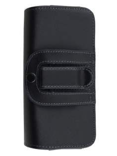 Extra-tough Genuine Leather ShineColours belt pouch for Nokia Lumia 735 - Classic Black