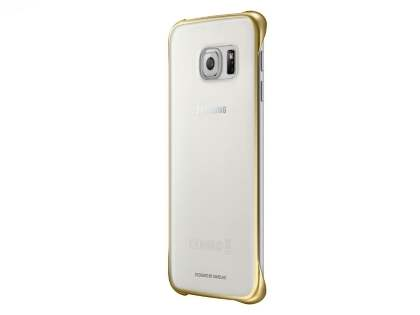 Genuine Samsung Galaxy S6 Edge Protective Cover - Clear/Gold