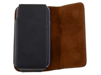 Extra-tough Genuine Leather ShineColours belt pouch for BlackBerry Z30