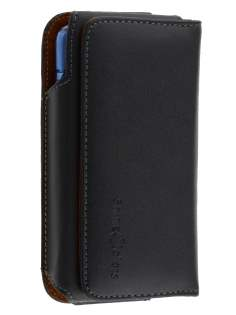 Extra-tough Genuine Leather belt pouch (Bumper Case Compatible) for Huawei Ascend Y520 - Belt Pouch