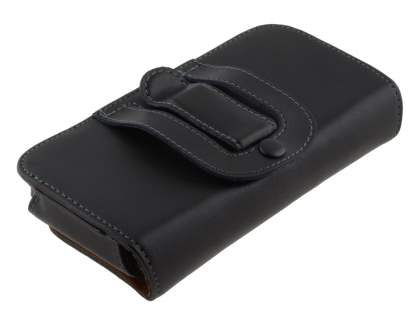 Extra-tough Genuine Leather ShineColours belt pouch (Bumper Case Compatible) for HTC One M7