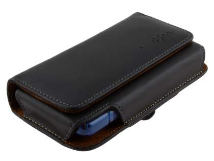 Extra-tough Genuine Leather ShineColours belt pouch (Bumper Case Compatible) for ZTE Telstra Frontier 4G